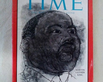Collectible Time Magazine March 19, 1965 Martin Luther King Cover Very Good Condition Great Ads