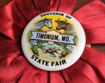 Everyone Needs A Souvenir From The Fair Antique Pinback Ribbon