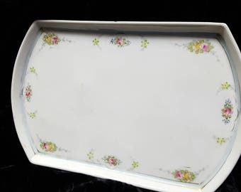 Dainty Floral Trimmed Nippon Small Tray