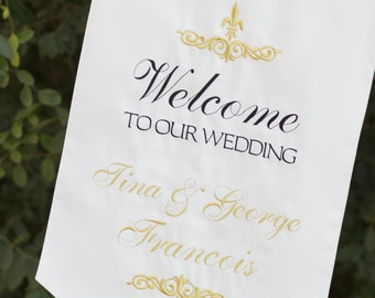 Welcome to Our Wedding banner - one sided