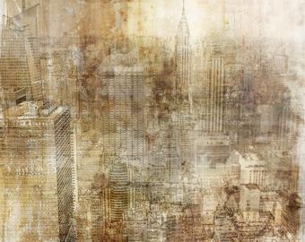 NYC GRUNGE 02: Giclee Fine Art Print 13X19