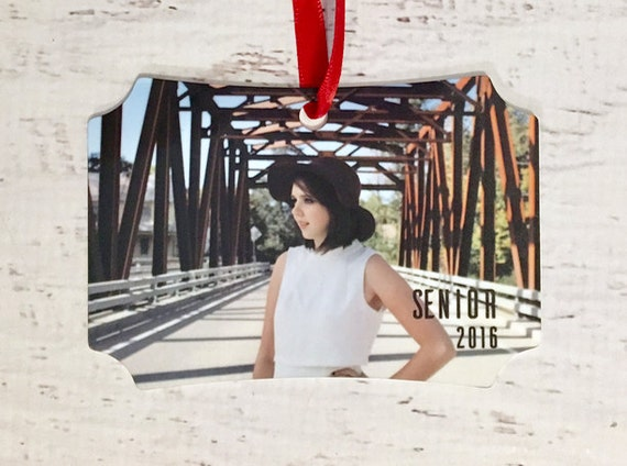 Senior Portrait Custom Personalized Photo Picture Christmas Ornament