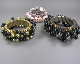 Expansion Bracelets, Repurpose Lot, Cha Cha, Repair or Reuse, Beaded Bracelets, Stretch
