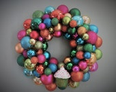 """Reserved- 18"""" Shatterproof Ornament Wreath- Multi-colored"""