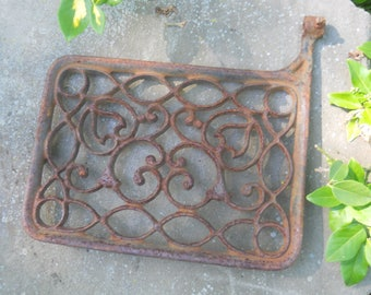 Antique Treadle Sewing Machine Cast Iron Treadle--Ornate Pattern--Steampunk-Industrial-Repurpose