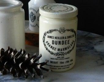 Vintage Glass Dundee Marmalade Jar. Farmhouse Decor. Cottage.