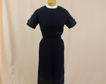 60s Wiggle Dress * Black Crepe Dress * Black Dress * 60s Dress * 1960s Dress * Black Wiggle Dress * Mod Dress * Vintage Black Dress