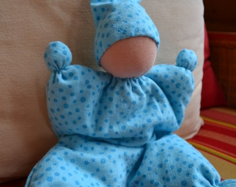 Blue Waldorf Butterfly Doll With Light Skin