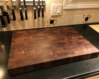Custom Cutting Board Walnut End Grain Butcher Block
