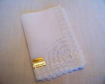 Vintage Lehner Ladies Lace Edged Handkerchief