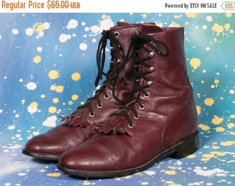 20%Off JUSTIN Women's Lacer Boots Size 7 B