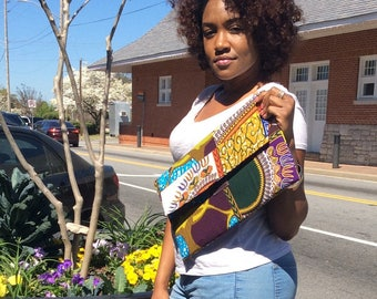 Multi Printed Ankara Cotton Oversized Clutch Bag