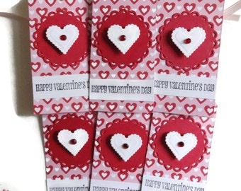 Valentines Tags, Valentines Day Tags, Heart Tags, Gift Bag Tags