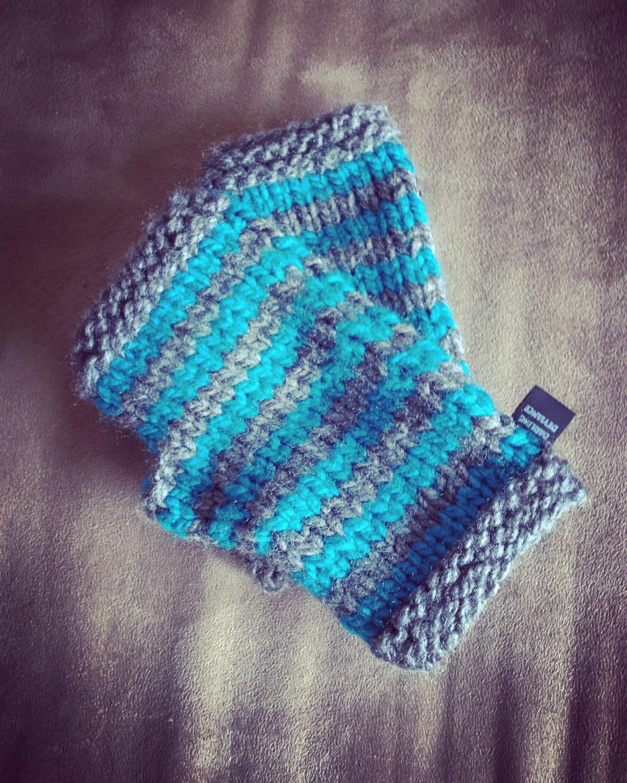 Striped Fingerless Gloves
