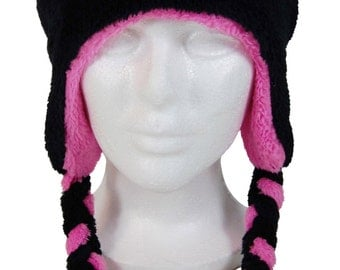 Kitty Baby Pink Fleece Hat