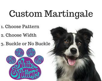 Custom Martingale Dog Collar, Martingale with Buckle, Martingale without Buckle, Greyhound Collar, Martingale Dog Collar, Dog Collar