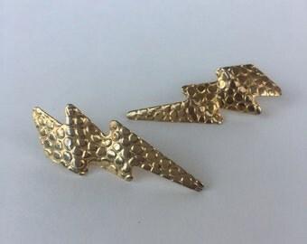 Amazeballs 1970s Lightening Bolt Earrings