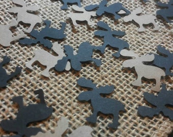 Moose Confetti 150 CT- Table Confetti- Birthday- Baby Shower- Cutout- Custom Colors Available