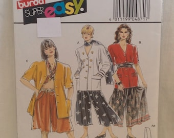 Vintage Burda Super Easy Jacket and Pants Pattern # 4871  Sizes 10-20  Epsteam