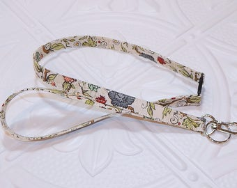 Floral Lanyard - Breakaway Lanyard - Badge Holder - Key Lanyard - Key Chain - Teachers Gifts