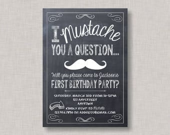 Little Man Birthday Invitation, Little Man Birthday, Mustache Birthday Invitation, Little Man Invitation, Mustache Bash Invitation, Mustache