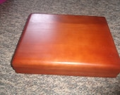 vintage solid wood box holder memory safe jewelry flatware