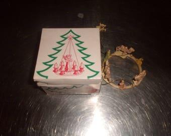 vintage christmas tree ornament manger scene baby wiseman