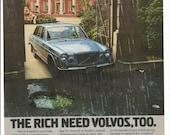 1973 Advertisement Volvo 164 The Rich Need Classic Import Sedan Luxury Car Driver Owner Dealership Garage Wall Art Decor
