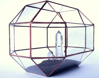 Wedding Card Holder , Glass Card Box ,  Conservatory , Envelope Holder , Geometric Terrarium , Wedding Decor , Stained Glass , Terrarium