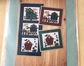 Birdhouse Quilt Square Pattern