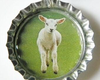 Easter Lamb Necklace Little Lamb Pendant Easter necklace Easter jewelry Easter Lamb pendant Easter pendant lamb necklace lamb pendant presen