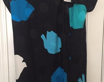 Mila Schon 1980s silk size 6 wrap dress