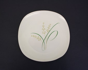 Vintage Knowles 'Highlands' Mid Mod Square Dinner Plate (E1929)