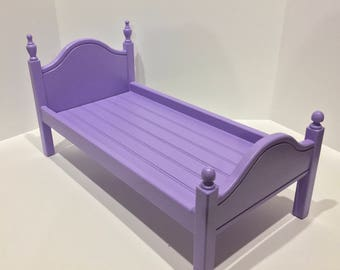 """American Girl Doll: Furniture lavender  'Lil Elena bed for 18"""" doll"""