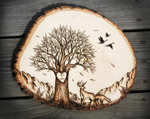 Nature Scene Wood Wall Art Natural Live Edge Wood Slice