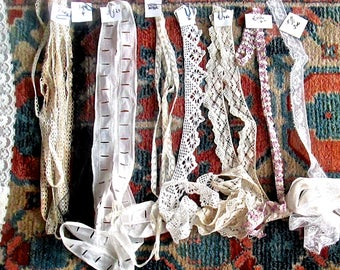 1930s Hand Made and Machine Lace Yardages 25 plus Yards