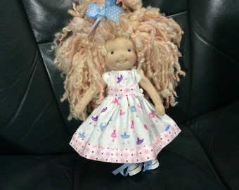 Teeny Tiny ballerina, Blythe sized Waldorf doll clothes