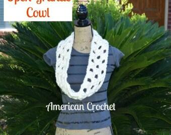 Open Grande Cowl Crochet Pattern