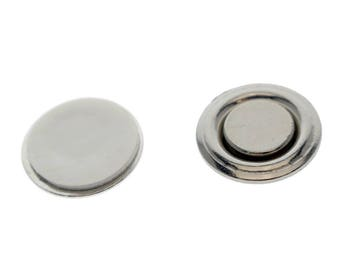 10 Small Round Button & Badge Magnets Free Shipping!! -- Strong Magnetic Name Tag ID Holders -  Sticker Adhesive Backing (SPID-9510-Q10)
