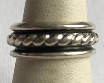 Sterling Silver Band Ring-Size 6