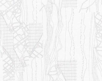 Friedlander The Cattle Print in Shadow, Carolyn Friedlander, Robert Kaufman Fabrics, 100% Cotton Fabric, AFR-16607-304 SHADOW
