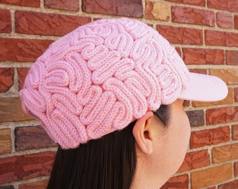 Brain Hat - Brain Hat Project - Science March - Brain Baseball Hat - Brain Hat Crochet - Crochet Hat - Baseball Hat - Earth Day