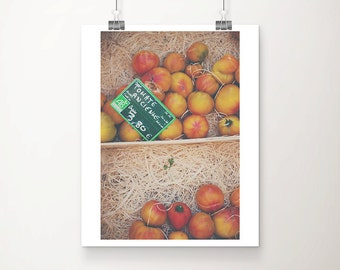 tomato photograph kitchen wall art food photography tomato print vegetable photograph french decor farmers market photograph