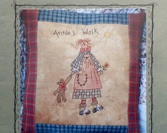 50%OFF You Are Special Sami's Stitchery's ANNIE'S Walk Pillow Primitive Folk Art - Hand Embroidery Stitchery Pattern Template