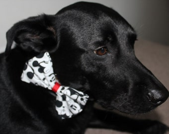 Mickey Mouse Dog Bow/Bow Tie Accessory