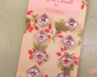 April Cornell for moda...crystal, square buttons...carded