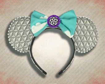 Prototype Community Mouse Ear Headband with Bow and Logo in Bottle Cap