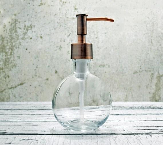 Round Hand Soap Dispensers Small Glass Soap Dispenser