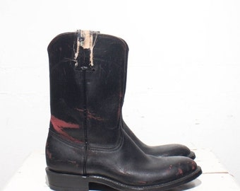 40% off SALE 7 B | Custom Made Women's Pull On Roper Boots