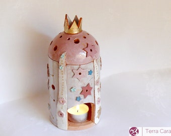 Ceramic House - Candle Lantern - Tealight House - Candle Holder - Fairy Tale House